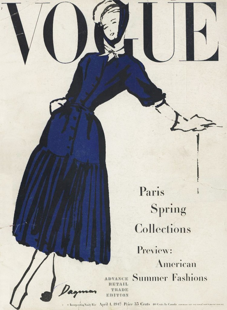 Vogue Cover 1947 by Dagmar Freuchen-Gale