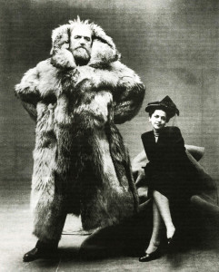 Dagmar and husband Arctic explorer Peter Freuchen by Irving Penn 1947